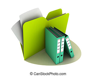folders - illustration of folders on the white background