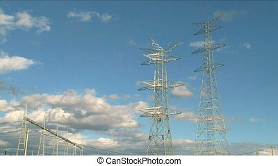 Electrical Towers with Workers.