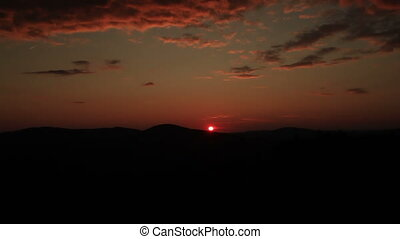 Sunset over mountains in Maine TL - Sunset over mountains in...