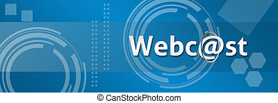 Webcast In Professional Style Backg - A techy style business...