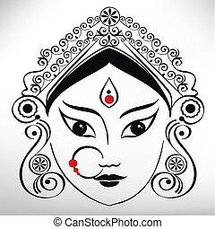 Durga illustration - Durga goddess illusration