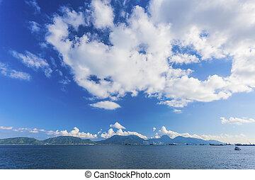 Coast landscape in Hong Kong Lantau Island