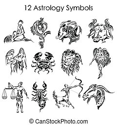 Astrology symbols - vector illustration of astrology symbols...