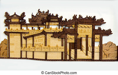 old chinese building carving