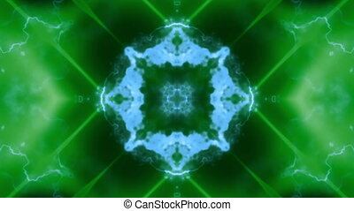 Blue green soft flowing VJ loop - Blue green soft flowing VJ...