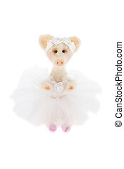 White toy pig in a tutu  - a White toy pig in a tutu