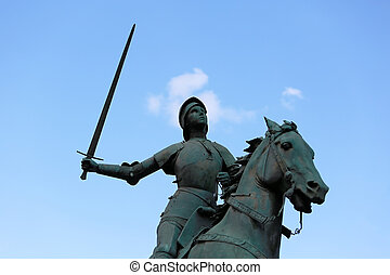 Old Monument of Jeanne dArc Joan of Arc