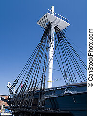 USS Constitution - The historic U.S.S. Constitution docked...