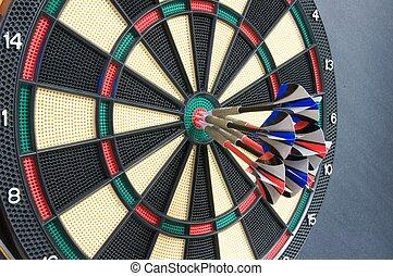 Dartboard - Bulls eye on the dartboard