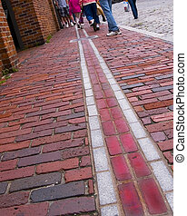 Boston\'s Freedom Trail runs more than three miles past many...