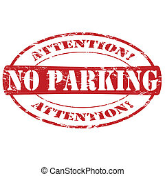 No parking - Rubber stamp with text no parking inside,...
