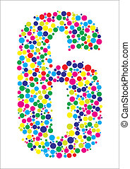 Vector illustration of number six