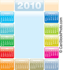 Colorful Calendar for 2010
