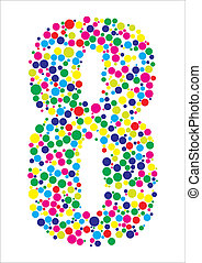 Vector illustration of number eight