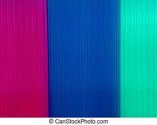 Background with multicolored polycarbonate plates that are...