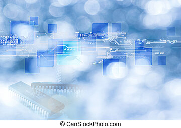 technology concept - Background can use the Internet, print...