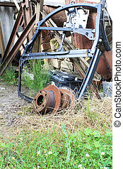 Scrap-iron -  old scrap, waste to pollute the nature
