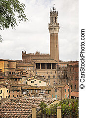 The Torre del Mangia, Siena