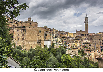 Overview of Siena, Italy