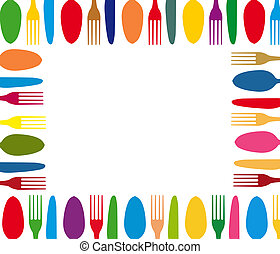 Cutlery color background menu - Cutlery color background,...
