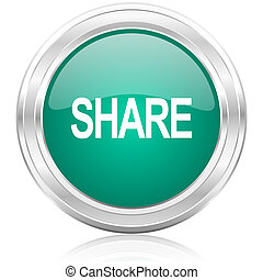 share internet icon - green glossy internet icon