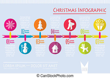 Christmas infographic, vector illustration