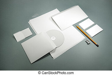 blank template for business cards, letterheads, envelopes...