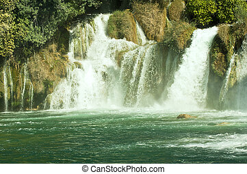 Krka waterfalls, Croatia Krka National park - River Krka ,...
