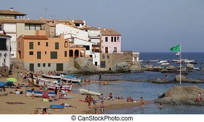 Beach Leisure Time 02 - Typical Mediterranean beach in...