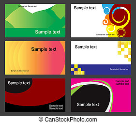 Set of business cards isolated on background