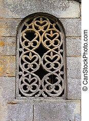Stunning lattice window in pre-romanesque church - Stunning...