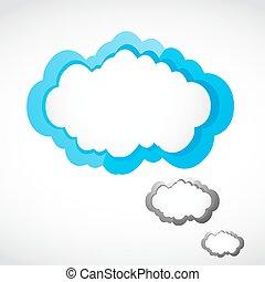 speech cloud vector