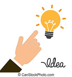 think design over white background vector illustration