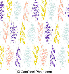 Natural Seamless Pattern - Cute seamless texture with...
