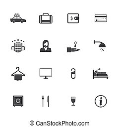 Hotel and travel icons