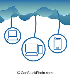 Cloud computing conceptVector EPS 10