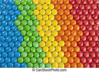 Colorful Chocolate Candy - Background of Colorful Chocolate...