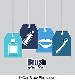 dental design over gray background vector illustration