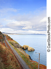 Railway next to the coast - Coastline Railroad Track