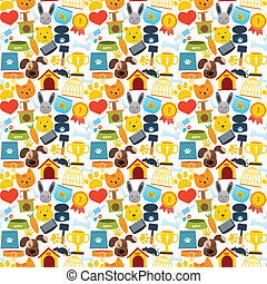 Pets seamless pattern