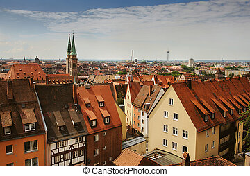 Skyline of Nuremberg, Germany