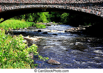 Stone Bridge over Troubled Water - Dells of the Eau Claire...
