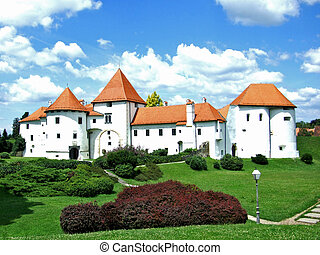 Old city or castle in Varazdin, Croatia