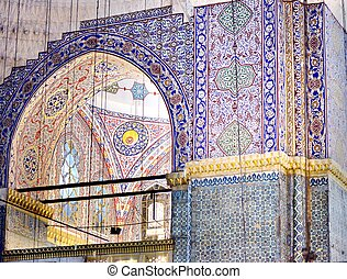 Islamic ornament - Tiled background, oriental ornament...