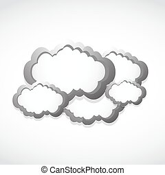 metallic clouds concept background