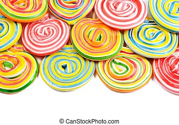 Colorful border - A lot of colorful lollipops ,border on a...