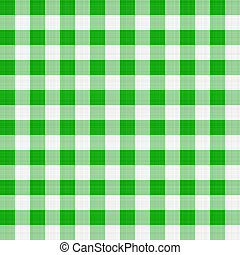 green table cloth - seamless texture of green and white...