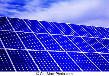 Photovoltaic, solar panel - Renewable energy - Solar energy:...