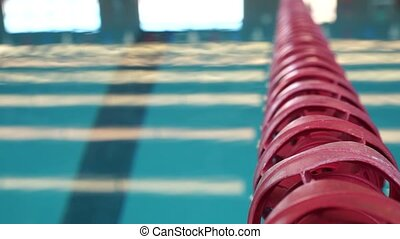 Swimming Pool Lap Divider - A close up shot of a swimming...