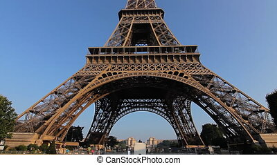 eiffel tower low angle tilt day - famous landmark eiffel...